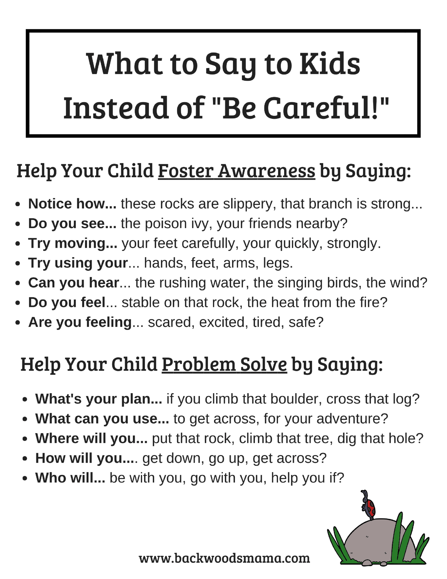 Stop Telling Kids To Be Careful And What To Say Instead
