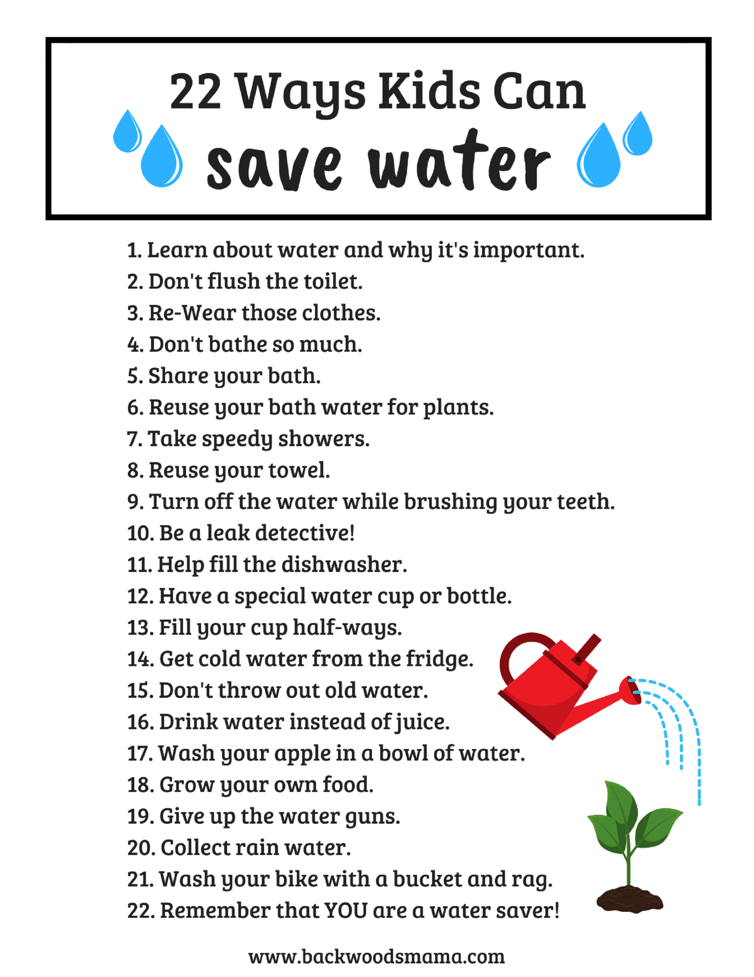 Even If You Are A Kid Can Save Water Just Like Grown Ups