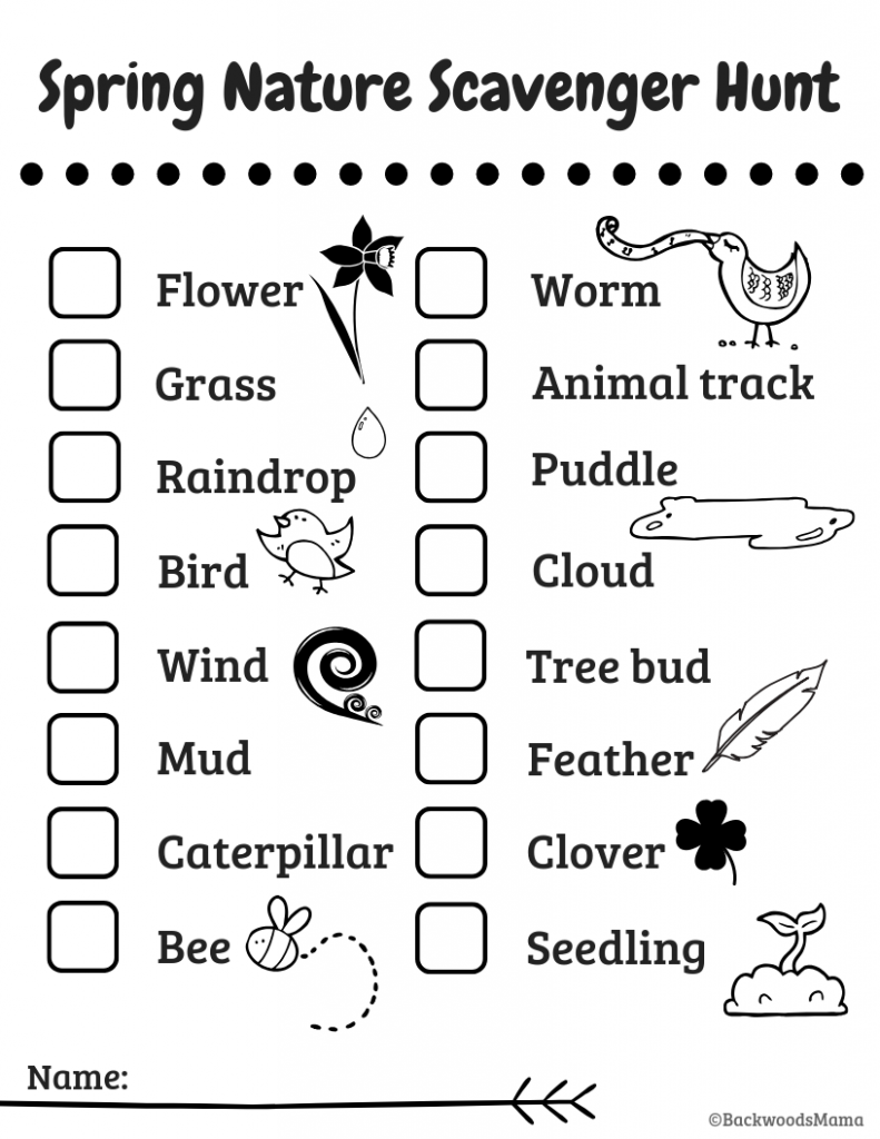 photo relating to Fall Scavenger Hunt Printable identify Printables Backwoods Mama